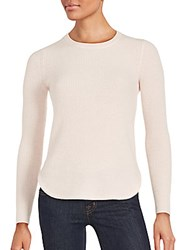Cashmere Saks Fifth Avenue Ribbed Sweater Pale Pink