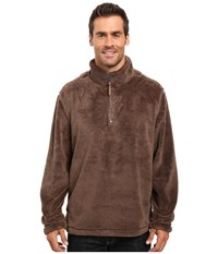 True Grit Pebble Pile 1 4 Zip Pullover Cocoa Men's Long Sleeve Pullover Brown