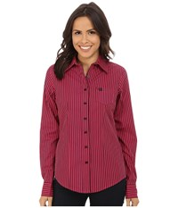 Cinch Cotton Plain Weave Fit Assorted Women's Long Sleeve Button Up Multi