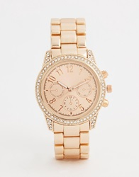 New Look Stoned Shoulder Midi Watch Gold