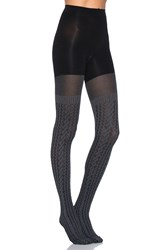 Spanx Cable Knit Tights Gray