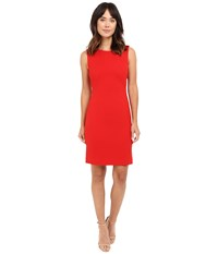Tahari By Arthur S. Levine Sheath Dress Crimson Women's Dress Red