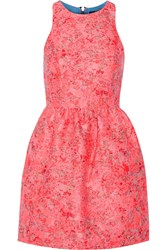 Markus Lupfer Erica Brocade Mini Dress Pink