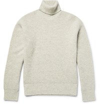 Calvin Klein Cavin Kein Coection Neden Ribbed Meange Came Roneck Sweater Gray