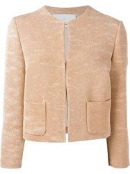Roberto Capucci Cropped Jacket Pink And Purple