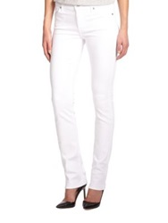7 For All Mankind The Modern Straight Leg Jeans White