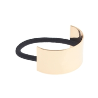 J.Crew Curved Metal Hair Elastic Metallic Gold