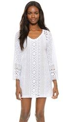 Temptation Positano Bell Sleeve Dress White