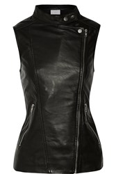 W118 By Walter Baker Viotlet Leather Vest Black
