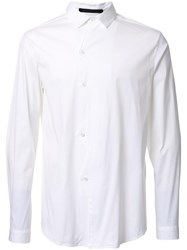 Christopher Kane Zig Zag Front Placket Shirt White