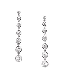 Crislu Linear Drop Earrings Silver