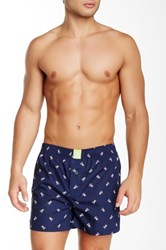 Psycho Bunny Printed Woven Boxer Blue