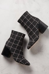 Anthropologie Bettye Muller Nightcap Booties Black And Pink