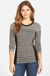Petite Women's Nic Zoe 'Allegro' Crewneck Sweater Sugarcane Mix
