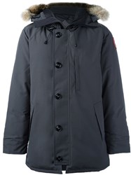 Canada Goose Buttoned Parka Coat Grey