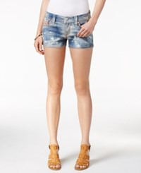 Rock Revival Bleached Light Blue Wash Denim Shorts