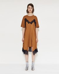 Maison Martin Margiela Pure Silk Twill Dress Tobacco