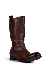 N.D.C. Leather Boots With Sheepskin Lining
