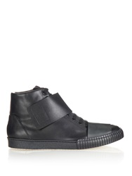 Marni Strap Detail Leather High Top Trainers