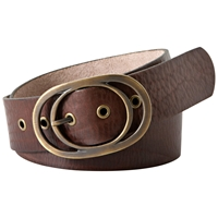 Fossil Vintage Leather Oval Buckle Belt Chocolate