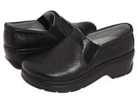 Klogs Usa Naples Black Tooled Leather Women's Clog Shoes