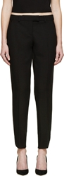 Christopher Kane Black Curved Cuff Trousers