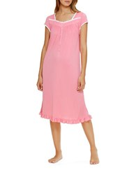 Eileen West Plus Short Sleeve Waltz Nightgown Pink