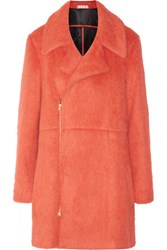Marni Brushed Wool And Alpaca Blend Coat Tomato Red