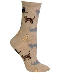 Hot Sox Women's Cats Trouser Socks Hemp