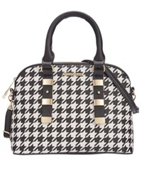 Rampage Dome Satchel Only At Macy's Houndstooth