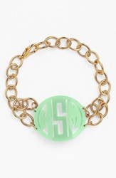 Women's Moon And Lola 'Annabel' Medium Personalized Monogram Bracelet