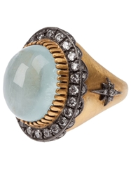 Sara Weinstock Aquamarine Ring Black