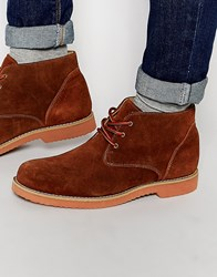 Frank Wright Desert Boots In Tan Suede Tan