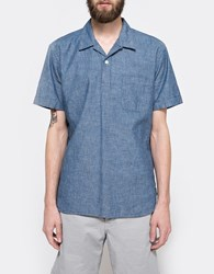 Beams Plus B Open Popover Chambray Blue