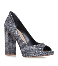 Kg By Kurt Geiger Impulse Peep Toe Pumps Female Silver