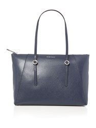 Coccinelle Mel Navy Zip Top Tote Bag Navy