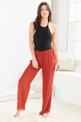 Out From Under Celia Lounge Pant Rust