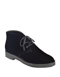 Marc Fisher Dixie Velvet Chukka Booties Black