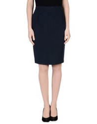 Diana Gallesi Knee Length Skirts Dark Blue