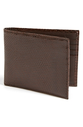 Boconi Lizard Wallet Brown