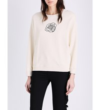 Diesel Rose Motif Cotton Jersey Sweatshirt 0Caoi 194