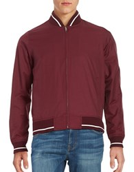 Brooks Brothers Cotton Bomber Jacket Red