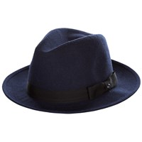 Ted Baker Hattie Contrast Band Fedora Hat Navy