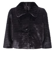Kaliko Short Fur Jacket Black