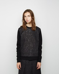 Proenza Schouler Needle Punch Wool Sweater Black