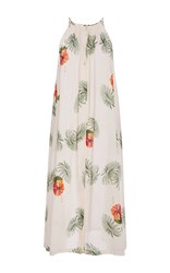 Christine Alcalay Hibiscus Button Front Dress Print