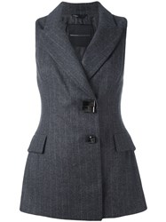 Ermanno Scervino Long Fitted Waistcoat Grey