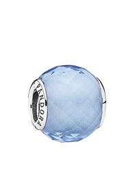 Pandora Design Pandora Charm Sterling Silver And Cubic Zirconia Blue Petite Facets Moments Collection