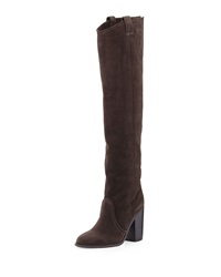 Laurence Dacade Silas Split Calf Western Style Knee Boot Anthracite