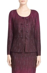 St. John Women's Collection 'Kira' Crystal Embellished Ombre Jacket